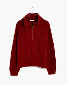 Pointelle Half-Zip Pullover Sweater Half Zip Sweaters, Pullover Sweaters, Men Sweater, Cardigans, Sustainable Fabrics, Half Zip Pullover, Vintage Jeans, Sweater Outfits, Tents