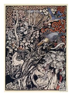 Wild and Shy and Monstrous Creatures Ranged in Her Plains and Forests' Giclee Print by Arthur Rackham at Art.com