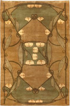 Modern Hand-Knotted Craftsman Reproduction Rug. GuildCraft's Collection features three original Celtic designs by British Arts and Crafts designer Archibald Knox.