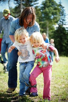 The Kids Rodeo includes field games with the parents and counselors!