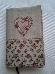 pretty fabric notebook cover