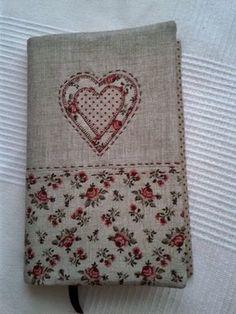 pretty fabric notebook cover