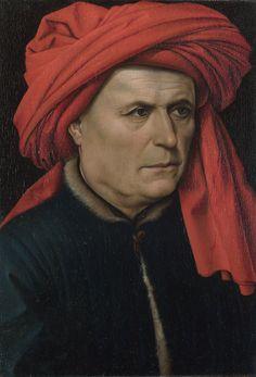 robert campin retrato de un hombre - Maestro de Flemalle