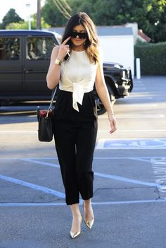 kyliejennerfashionstyle:  January 15, 2014 - Kylie Jenner arriving to Fred Segal in Hollywood.