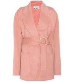 Acne Lilo pink wool and cashmere coat