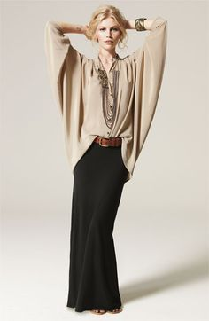 Love how this was styled...Twelfth Street by Cynthia Vincent Oversized Silk Blouse
