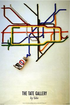 The Tate Gallery by Tube, by David Booth of the agency Fine White Line (1987)