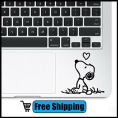 nice Snooopy Dog CreativeTouchpad Decal Vinyl Protector Laptop Skin Trackpad sticker for Apple Macbook DIY Sticker TS-13