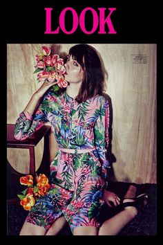 Our Tropical Print Shirt Dress takes centre stage in Look Magazine!
