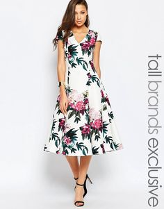 True+Decadence+Tall+Fit+And+Flare+Printed+Prom