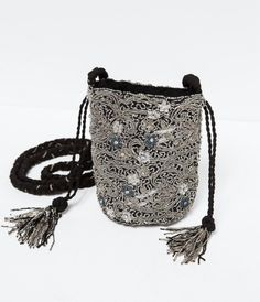 Dolly bag from ZARA. Saved to Bohémi. Shop more products from ZARA on Wanelo. Potli Bags, Zara New, Beaded Bags, Pouch Bag, Small Bags, Beautiful Bags, Mini Bag, Saddle Bags, Bucket Bag