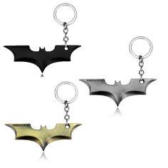 Batman Movie Super Hero Keychain Superhero Key Chain & Key Ring Holder Keyring for Men Women Souvenirs