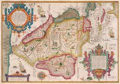 Antique Map Linschoten South America