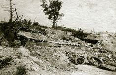 Bataille du Chemin des Dames - plateau triangulaire (Craonelle/Hurtebise/Oulches) - Craonelle (photo VestPocket Kodak Marius Vasse 1891-1987)
