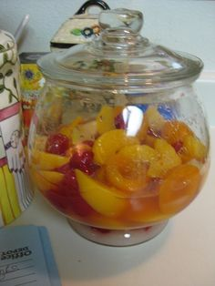 Friendship Cake with Brandied Fruit Starter photo...I`ve been looking for this recipe for YEARS! Soooooo good!