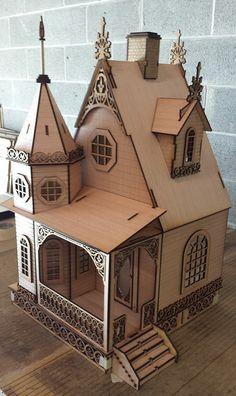 Jasmin gothique victorien Cottage Dollhouse par LaserDollhouses