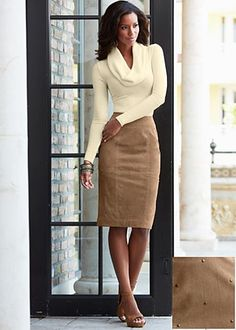 whitw cowl neck and skirt | exaggerated cowl sweater $ 36 a draping cowl neck will add a new ...