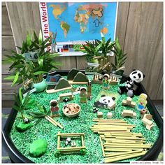 British Values - China Tuff Tray - The World we Live in Early Years Panda Activities, Jungle Activities, Eyfs Activities, Nursery Activities, Infant Activities, Jungle Crafts, Chinese New Year Crafts For Kids, Chinese New Year Activities, New Years Activities