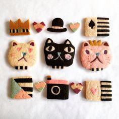 ◆ efuca sweets us Icebox Cookies, Cat Cookies, Meringue Cookies, Biscuit Cookies, Cupcake Cookies, Cute Snacks, Cute Food, Refrigerator Cookies, Kawaii Cooking