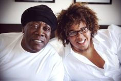 """The late, great """"BIG Man"""" & his fantastic nephew, Jake Clemons! He is awesome too, must run in the family! ;)"""