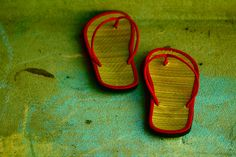 Red Summer Sandals On Chalk and Concrete by Pink Sherbet Photography, via Flickr