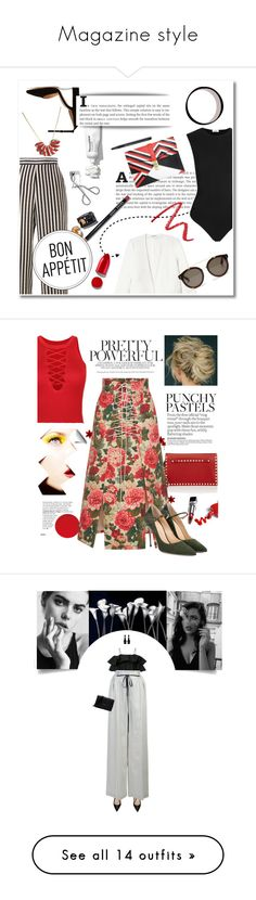 """""""Magazine style"""" by fanfanfanfannnn ❤ liked on Polyvore featuring Etro, Gianvito Rossi, Rebecca Taylor, Alix, Bobbi Brown Cosmetics, STELLA McCARTNEY, Atelier Maï Martin, NARS Cosmetics, Rodin and Valentino"""