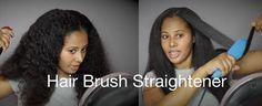 The Acevivi Hair Straightener Brush Demo & Review