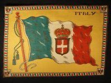 ITALY FLAG Early 1900s Tobacco Cigar Cigarettes Silks Felt Rug Dollhouse