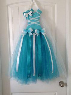 Elsa inspired tutu hair bow holder
