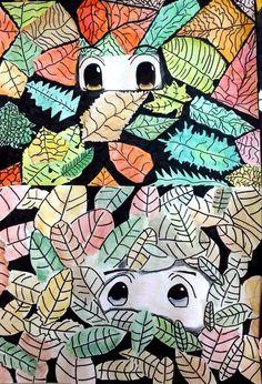 immagin@rti: Into the leaves. Tra le foglie... 6th grade project.