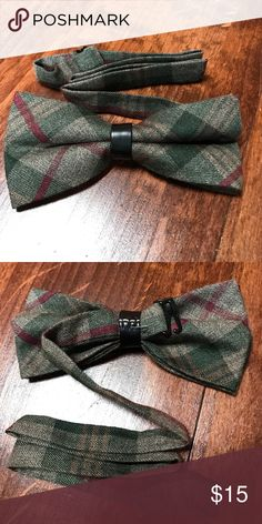 New high quality pre-tied adjustable bow tie New, never worn. High quality flannel-like material. Can adjust all the way from adult to child's neck size. Accessories Ties