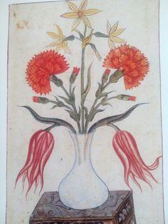 Turkish kaati (paper cutting art) GAZNEVİ -17 th century -Nur.