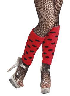 Gepunktete Beinstulpen Marienkäfer rot-schwarz , günstige Faschings  Accessoires & Zubehör bei Karneval Megastore, der größte Karneval und Faschings Kostüm- und Partyartikel Online Shop Europas!