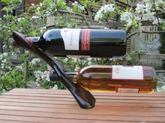 Self Balancing Double Wine Bottle Holder For Bottles No Higher Than 11.5""