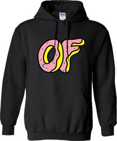 dd7944b449b9 Odd Future Doughnut Hoodie Ofwgkta Tyler The Creator Wolf Gang Earl Hoody  Sweat  ebay