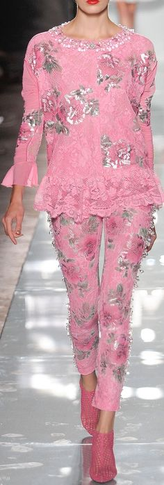 Roccobarocco RTW S/S 2014 . . . Normally I'm not attracted to pink, there's just something about this I definitely like! {image}