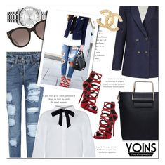 """Yoins Blouse"" by bellasugar ❤ liked on Polyvore featuring Calvin Klein, CÉLINE, Giuseppe Zanotti and Chanel"
