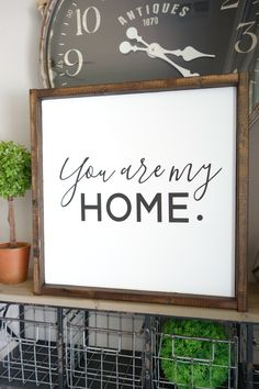 home decor signs Perfectly Decorating Your Ordinary Room with These Beautiful Farmhouse Signs - GoodNewsArchitecture Wood Signs For Home, Home Decor Signs, Diy Signs, Wall Signs, Diy Home Decor, Farmhouse Signs, Farmhouse Decor, Farmhouse Style, Earthy Home Decor