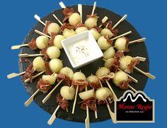 Bolitas de melón con jamón serrano #MonteRegio ¡que vivan los #aperitivos del viernes!