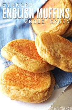 Oh my goodness, these einkorn english muffins are so good! Delicious easy recipe that's way better than store-bought. Great instructions for baking with einkorn too, which is the healthiest wheat you can bake with! Perfect for breakfast, or english muffin pizzas too. YUM! :: DontWastetheCrumbs.com
