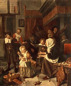 Jan Steen, Feast of Saint Nicholas, ca. 1660-65, Oil on canvas, Amsterdam
