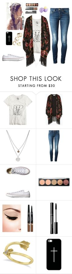 """""""Untitled #168"""" by thepearllesswonder ❤ liked on Polyvore featuring J.Crew, Zara, Kenneth Cole, Dondup, Converse, Trish McEvoy, Eos, Allurez, Casetify and ALDO"""