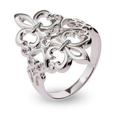 Fleur de Lis Ring silver jewelry