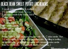 Black bean sweet potato enchilada recipe