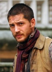 Tom Hardy, this is exactly how he looked when i met him. he was even wearing a scarf. :)