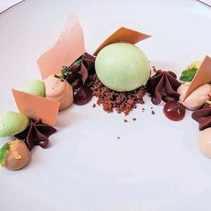 Mint sorbet with fernet branca and chocolate ganache by chef Daniel Humm of restaurant Eleven Madison Park. by @thegluttoner #TheArtOfPlating