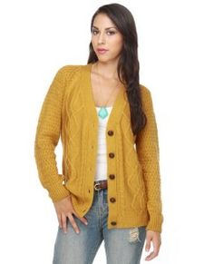 O'Neill Gramps Golden Yellow Cardigan Sweater