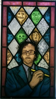 Tim Burton stained glass panel by Sedgwickstainedglass on Etsy, £800.00