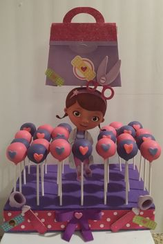 Doc mc stuffins cake pops HEARTS by CoutureSweetTreats on Etsy, $25.00