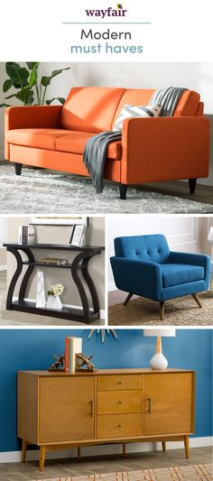 Make modern yours. Taking cues from mid-century style, this furniture is perfect for homes of every size, from first apartments to your dream home. Get inspired by retro designs with modern flair and decorate your space like a pro. Shop styles for every space at up to 70% OFF every day, and enjoy FREE shipping over $49 (even the big stuff!). Sign up to see more!